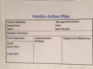 Hoshin Kanri 3: Hoshin Action Plan